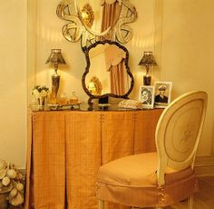 1920s dressing tables and vanities   ladies dressing table, mirrors by Julia Gray, chair by Niermann ...