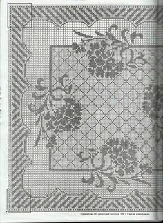 Kira scheme crochet: Scheme crochet no. Filet Crochet Charts, Crochet Doily Patterns, Crochet Cross, Crochet Doilies, Crochet Stitches, Knit Crochet, Cross Stitching, Cross Stitch Embroidery, Cross Stitch Patterns