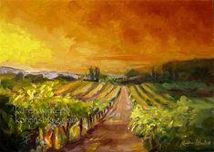 vineyard photo | Vineyard Paintings by Karen Winters, California and Tuscany Vineyard ...