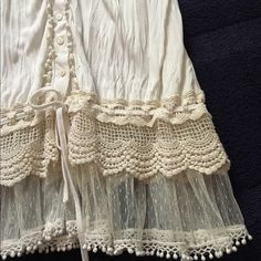Mystree top  Mystree top  Beautiful cream colored lace and crochet Mystree top.  NWOT  Mystree Tops