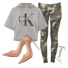 """Untitled #3041"" by breannamules ❤ liked on Polyvore featuring Stussy, Calvin Klein and Christian Louboutin"