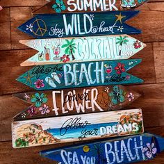 Bestel hier uw Wegwijzerborden/ order you signs here Wooden Signage, Diy Pallet Wall, Fun Signs, Tiki Bar Signs, Garden Signs, Beach Signs, Beach Crafts, Painted Signs, Painting On Wood