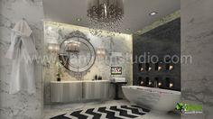 Diseño moderno del cuarto de baño