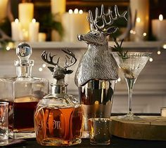 "Stag Cocktail Shaker #potterybarn Styled after traditional barware found in pubs, our cocktail shaker ensures great libations and fabulous parties. 4.5"" diameter, 13.75"" high; 25.3 fluid ounces Made of stainless steel and aluminum."