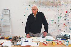 Ellsworth Kelly in his studio in Spencertown, New York