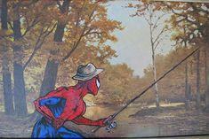 Artist Paints Pop-Culture Characters Into Old Thrift-Store Paintings