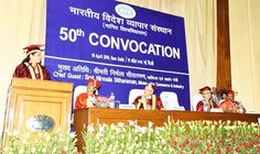 Union Minister of Commerce & Industry Nirmala Sitharaman speaking during 50th Convocation of IIFT Delhi on Tuesday.