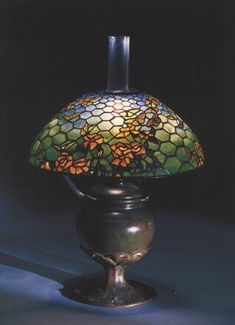 Bubble Chandelier, Art Deco Chandelier, Art Deco Lamps, Tiffany Art, Tiffany Glass, Antique Lamps, Victorian Lamps, Stained Glass Lamp Shades, Studio Lamp