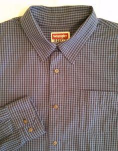 WRANGLER JEANS CO. Premium Quality LONG SLEEVE Button Front Casual Shirt szXL #WRANGLERJEANSCO #ButtonFront
