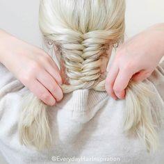 Hair Up Styles, Short Hair Styles Easy, Medium Hair Styles, Braided Hairstyles Tutorials, Easy Hairstyles For Long Hair, Cute Hairstyles, Medium Hair Braids, Braids For Short Hair, Braiding Your Own Hair
