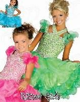 Wholesale 2015 New Ritzee Girls Ball gowns Little Girls Pageant Dresses Full Shiny Crystals Infant Toddler Cupcake STATENATIONAL Flowers Little Kids