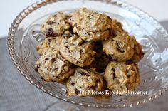 Mona's Kjøkkenskriverier: Herlige peanøtt-cookies med sjokolade (glutenfrie ...