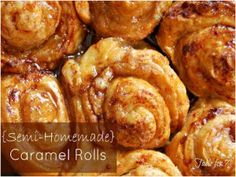 Semi-Homemade Slow Cooker Caramel Rolls - One of the best recipes using biscuits! You can make these tasty sweet rolls in your slow cooker for breakfast or dessert.