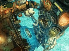 ink everyone has said everything that could be said about the god-like landscape artist, Imperial Boy. Face it, his work speaks for hi. Illustrations, Illustration Art, Steampunk City, Pixiv Fantasia, Fantasy City, Animation Background, Environment Concept Art, Fantasy Landscape, Landscape Art