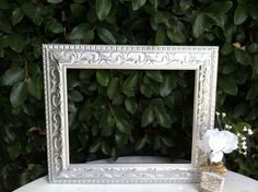 Silver Ornate Picture Frame  11x14  Shabby Chic by ThePaintedLdy