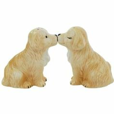 "Westland Giftware Mwah Golden Retriever Puppies Magnetic Ceramic Salt and Pepper Set, 3-Inch by Westland Giftware. $11.00. Beautifully painted with attention to detail. Not dishwasher or microwave safe. High quality ceramic design. A great collector's gift. Functional and decorative item. Westland Giftware's Golden Retriever Puppies Magnetic Ceramic Salt & Pepper Shaker Set stands 3"" tall and each piece has a magnetic insert that holds them together.  These adorable puppies are..."