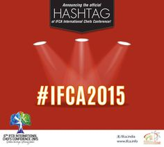 Are you following our live tweeting? Here's an opportunity to win big! Click photos and share your updates on Facebook and Twitter with our official hashtag #IFCA2015!   Log on to IFCA2015.TWEETWALLY.COM for live tweet feed! #chefs #cook #recipes #ITC #Chennai #foodart #chefsart #finedining #chefsmeet #conference #culinary #chefstalk #kitchen #professionals #restaurants #foodculture #foodfest