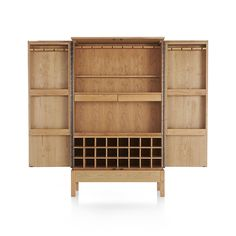 Created by British designer Russell Pinch with Shaker inspiration and crafted in the U.S., our Victuals bar cabinet is a home entertainment center of a different kind.