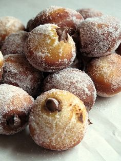 YUMMY! Chocolate filled doughnuts!