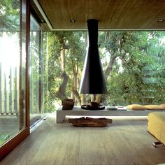 by wood and ethnic interior
