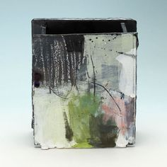 Slab vessel 'Wet meadow series' by Barry Stedman