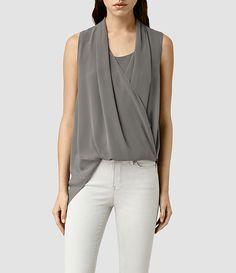 Womens Abi Vik Top (Slate Grey) - product_image_alt_text_1