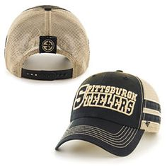 Get this Pittsburgh Steelers Huron Trucker Snapback Adjustable Cap at  ThePittsburghFan.com Pittsburgh Steelers Hats e35e24112