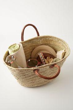 Hillside Picnic Basket - Anthropologie.com  recreate this one for less