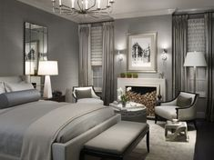 Superbe Gray On Gray Grey Bedrooms, Grey Curtains Bedroom, Hotel Style Bedrooms, Master  Bedrooms