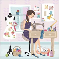Sewing Illustration
