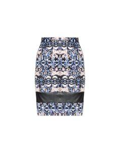 Cotton skirt with faux leather details by Manon Baptiste - navabi.de plus size clothing