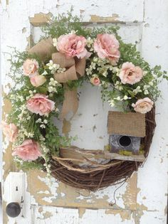 Spring Wreath Easter Wreath Summer Wreath Front by FlowerPowerOhio
