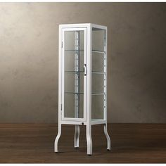 RH's Pharmacy Small Bath Cabinet:Our reproduction of a pharmacy cabinet offers display-case storage for the bath. Storage, Japanese Furniture, Small Bath, Bath, Cabinet, Locker Storage, Furniture, Bath Cabinets, Cool Furniture