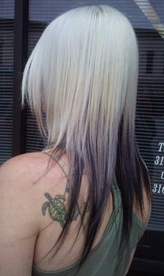 white to black ombre