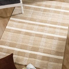 Maple Rugs In Natural Are Part Of The Woodland Collection This Checked Design Is Handmade With A Luxurious Wool Cut And Loop Pile That Deep