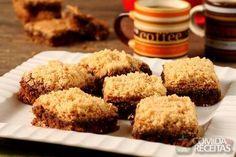 Receita de Brownie de café com paçoca em Bolos, veja essa e outras receitas aqui!