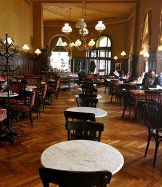 Cafe Sperl in Vienna. Scene from 'Before Sunrise' filmed here. Coffee Shops, Next Restaurant, European Cafe, River Cruises In Europe, Restaurants, Vienna Secession, Heart Of Europe, Before Sunrise, Vienna Austria