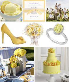Yellow Wedding Colour Palette