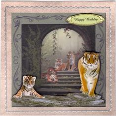 Temple Tigers 3D Quick Card on Craftsuprint - View Now!