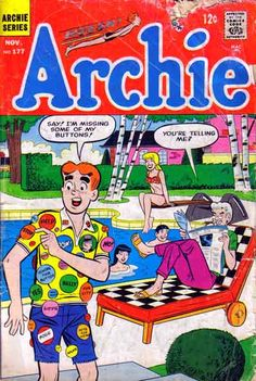 Archie comics covers and pages of the 1960's as a mirror to fads, fashion and trends