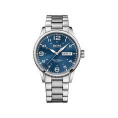 Hugo Boss Men's Pilot Stainless Steel Bracelet Watch 1513329 In Silver Hugo Boss Watches, Watches For Men, Men's Watches, Wrist Watches, Nice Watches, Luxury Watches, Stainless Steel Watch, Stainless Steel Bracelet, Montres Hugo Boss