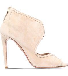 AQUAZZURA - Bianca 105 suede shoe boots | Selfridges.com