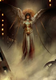 KULT: Divinity Lost (official Cover Art) by Deharme female modern fallen angel wings player character npc movie comic book cover art cards poster packaging advertising marketing   Create your own roleplaying game material w/ RPG Bard: www.rpgbard.com   Writing inspiration for Dungeons and Dragons DND D&D Pathfinder PFRPG Warhammer 40k Star Wars Shadowrun Call of Cthulhu Lord of the Rings LoTR + d20 fantasy science fiction scifi horror design   Not Trusty Sword art: click artwork for source