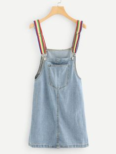 cfa745cb347 Product name  Pocket Front Denim Overall Dress at SHEIN