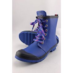 Tommy Hilfiger Renegade Women US 8 Blue Rain Boot Pre Owned  1467 #TommyHilfiger #Rainboots