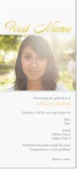 graduation announcement graduation photo Invitations & Announcements