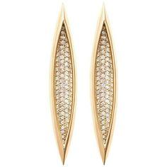 VANESSA EARRING (30 040 PLN) ❤ liked on Polyvore featuring jewelry, earrings, 18k earrings, pave jewelry, 18k jewelry, pave earrings and earring jewelry