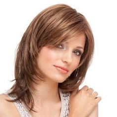 Blonde Straight Classy Remy Human Hair Wigs are hot sale at WigWay Official Site. Modern styles, high quality human hair wigs are available online! Medium Layered Hair, Medium Hair Cuts, Medium Hair Styles, Curly Hair Styles, Cheap Human Hair, Human Hair Wigs, Wig Hairstyles, Straight Hairstyles, Brown Hairstyles