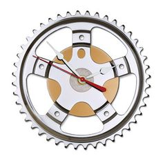 bike and hard drive clock