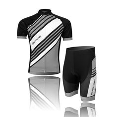 (Type:Set size:S) Breathable Dry perspiration Short Cycling Sportswear Comfortable Quick Men Jersey Tights pad Shorts Shirts Cool soft Set Tops Sleeve *** More info could be found at the image url.